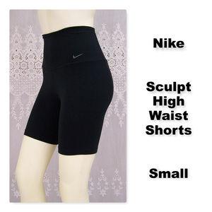 Nike Sculpt High Waist High Rise Training Shorts